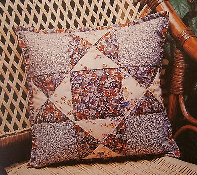 Dunlecraft Quilted Patchwork Cushion Cover Cotton Kit Easy Sewing Pillowcase New