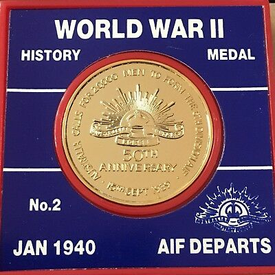 WORLD WAR II 1990 16TH Brigade Sail from Sydney Medal (3243337E4)