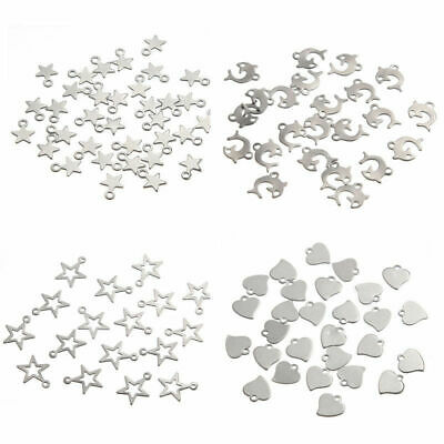 Stainless Steel Silver Charm Pendants Beads DIY Jewelry Findings Making Xmas