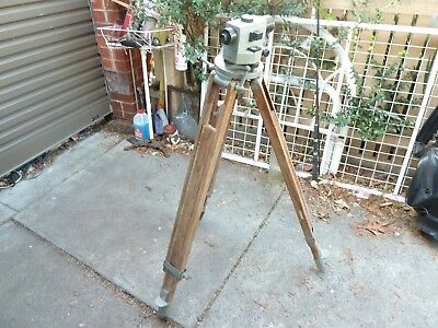 Vintage Altes Ina  dumpy level Wooden tripod