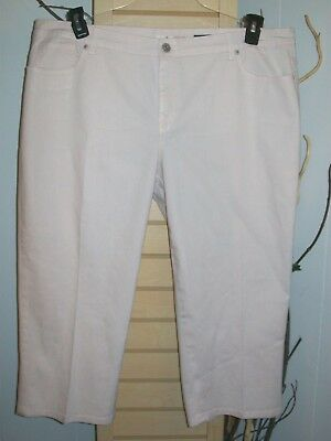 Style&co Denim Women's Capri's Size 20W Plus-Pink Pockets-Belt Loops-Pretty!