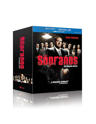 The Sopranos (Blu Ray + Digital) Complete Series Full Box Set NEW!! FREE SHIP!!