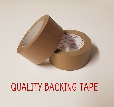 Brown Self Adhesive Backing Tape Masking Tape 50mm 2 Rolls Eco Tape Craft Tape