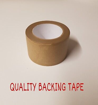 """Brown Self Adhesive Backing Tape Masking Tape 75mm Eco Tape 3"""" Eco Tape Sticky"""