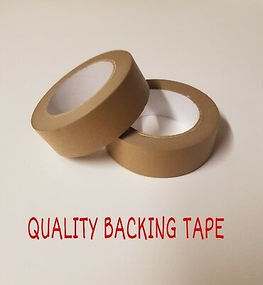Brown Self Adhesive Backing Tape Masking Tape 38mm 2 Rolls Eco Tape Craft Tape