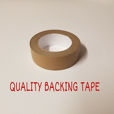 Brown Self Adhesive Backing Tape 38mm Masking Tape Eco Tape EXCELLENT QUALITY