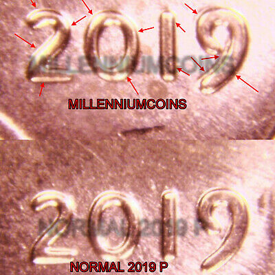 2019 P Shield Penny Cent Doubled Die / The Big One / From Roll / Lqqk