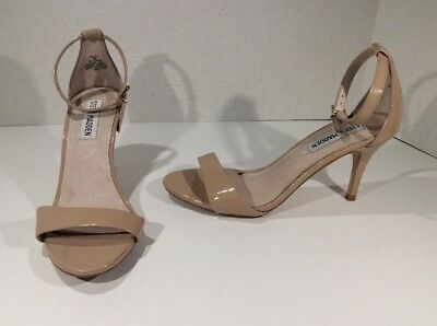 6fa888ac93c STEVE MADDEN Womens Sillly Nude Open Toe Ankle Strap Heels Shoes Size 6  IP-265