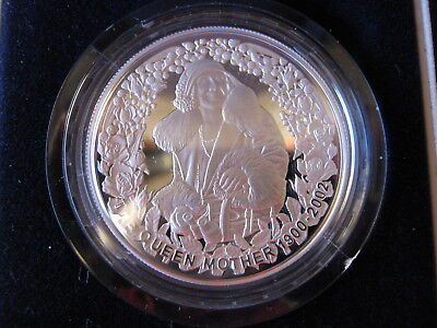 2002 Queen Mother Commemorative 1oz Silver Proof Five Dollar Coin