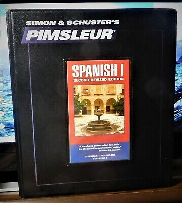 PIMSLEUR SPANISH 1 2nd Revised Edition 16 CD Discs 30 Lessons Simon &  Schuster's