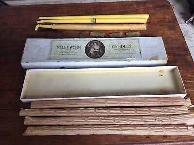 antique vintage english candlesticks Candles In Original Box