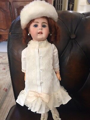 "Antique German little 13"" Doll Ball Jointed 41_26 Gebruder square cut teeth"