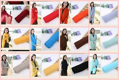 US SELLER-20 scarves plain fashion casual light weight shawls wraps womens scarf