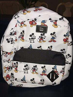 Details about Vans Disney Mickey Mouse Backpack School Bag Skate Through the Ages Old Skool