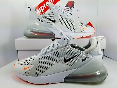 official photos e062d a5480 Nike Air Max 270 JDI Just Do It White Black Total Orange Running AH8050-106
