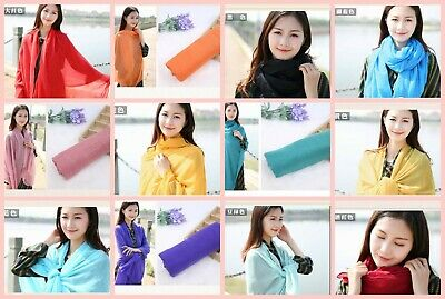 US SELLER- 10 Scarves & Wraps plain fashion casual light weight shawls wholesale