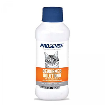 PROSENSE Liquid Dewormer Solutions For Cats, 4-fl. oz. Exp 12/2020 (WHBox-CATDEW