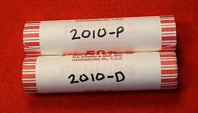 2010-P&d Lincoln Union Shield Cent Penny 2-50 Coin Rolls Red Bu Collector Gift