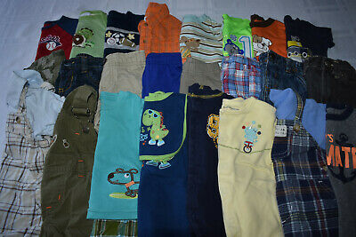 Used 27 Pc. Lot Of Newborn Baby Boy Clothes 0-3 Months Euc/vguc