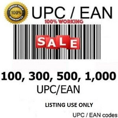10000 EAN//UPC Codes Bar Codes For Listing On eCommerce Marketplaces!!!