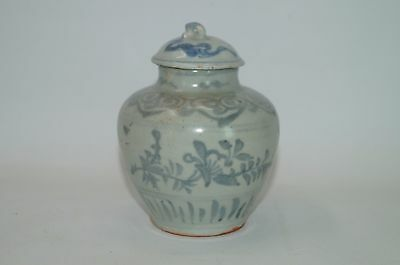 Ming dynasty Hongzhi period blue and white big jar with cover