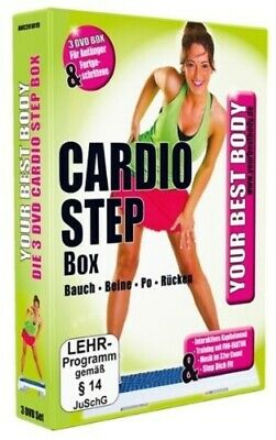 Your Best Body-Cardio Step Box - Andrea Bodor -  3 Dvd New