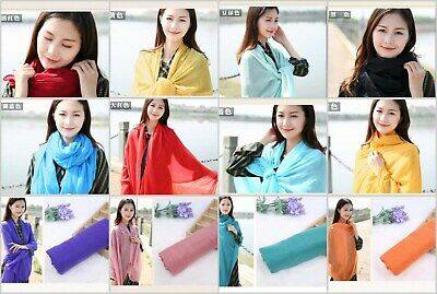 US SELLER, 10 womens scarves Fashion plain casual light weight shawls wraps