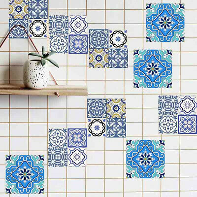 Wall Mosaic Stickers Tile Self Adhesive Kitchen Home Waterproof Art Mural Decals