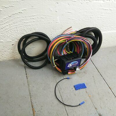 12v 18 circuit 12 fuse universal wiring harness kit 1957 mercury 1948 buick
