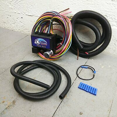Awesome 12V 18 Circuit 12 Fuse Universal Wiring Harness Kit 1957 Mercury Wiring Cloud Oideiuggs Outletorg