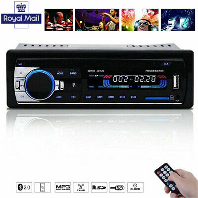 Bluetooth Car Stereo Radio In-dash 1 Din FM Aux Input Receiver SD MMC USB