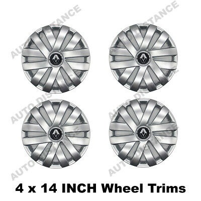 Renault Clio 14 Inch Wheel Trim Cover With Emblem Set Of 4 12/216