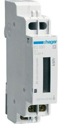 Hager KILOWATT-HOUR METER HAGEC050 250V 32A 1-Phase Direct Connection, DIN Rail