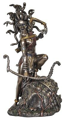Veronese Bronze Figurine Greek Mythology Medusa Gorgon Bowing Art Statue
