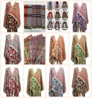 US SELLER- 20 pashmina shawls wholesale retro paisley thick discount scarf sale