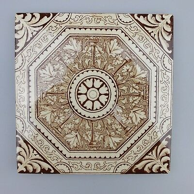 Vintage Monochrome Ceramic Tile – Made In England - Fire Place Surround Repair