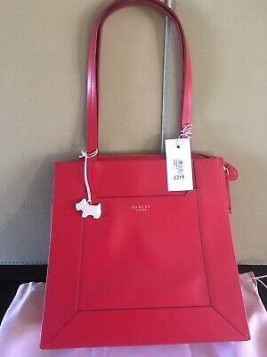 2bf1f49fa4 Brand New With Tags Leather Radley Hardwick Large Workbag Tote Red Rrp£219