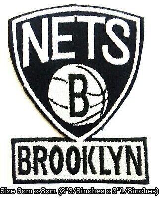 Brooklyn Nets Basketball NBA Sport Embroidery Logo Patch iron,sewing on Clothes