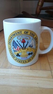 Very Colorful United States Army 12 Ounce Coffee Mug-Excellent Condition!!!