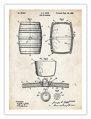 """WINDMILL INVENTION POSTER 1889 US Patent Art Print Olds Farm Farming 18x24/"""" GIFT"""