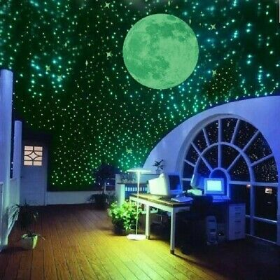 Wall 3D Fluorescent Star Stickers DIY Glow Dark Luminous Kids Bedroom Decoration