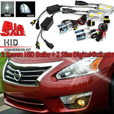 2X 55W Xenon HID Headlight Lamp H8 H9 H11 Auto Front Headlight Fog Bulbs 6000K