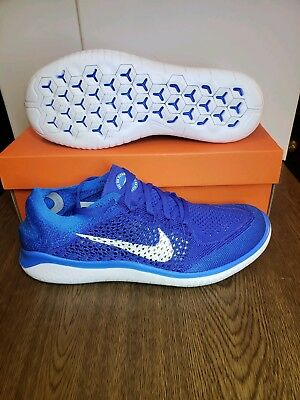 new concept 3d257 58c54 NIKE FREE RN FLYKNIT 2018  SIZE 9.5 Game Royal White Photo Blue 942838-401