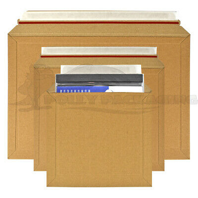 CARDBOARD ENVELOPES Any Size/Qty LIL Rigid ROYAL MAIL DVD/BOOK/CD's/Photos/Post