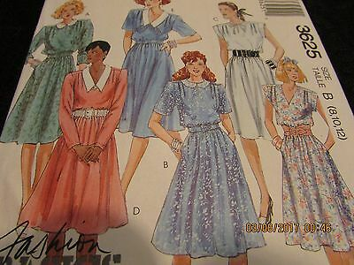 Vintage 80 s UNCUT Belted Flare Skirt Dress 8 10 12 Easy McCall s 3625  Pattern b6bc90d13