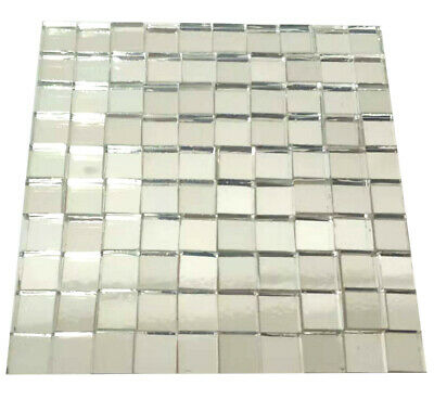 Mirror Mosaic Tiles 10mmx10mm Glass Craft Small Square Mirrors Bulk 100 Pieces