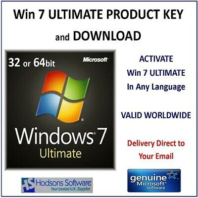 Windows 7 ULTIMATE Product Key for 32 or 64bit - with Download links