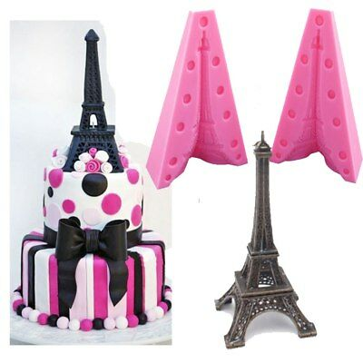 3D Silicone Paris Tower Fondant Cake Biscuit Mold Baking Decorating Tool C600