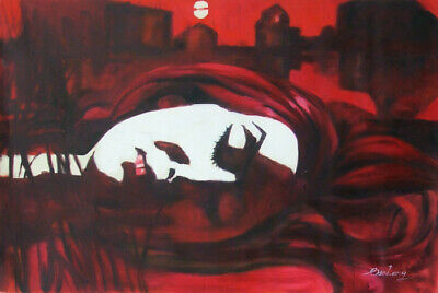 Death On A Barge Of Night Gallery Hand Oil Painting