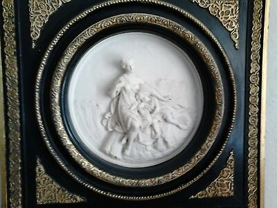 antique very old large stunning wall plaque antique sale